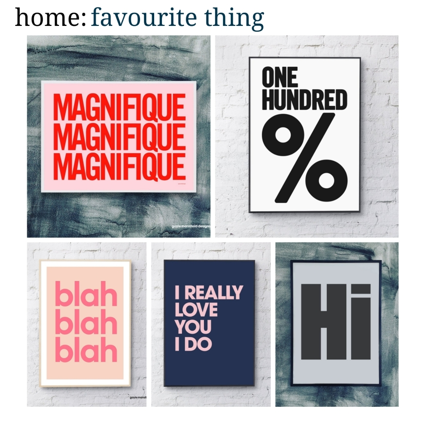 home: favourite thing [ Gayle Mansfield prints ]