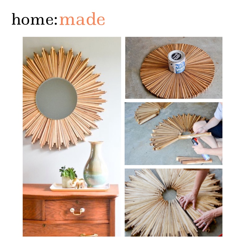 home: made [ sunburst mirror ]