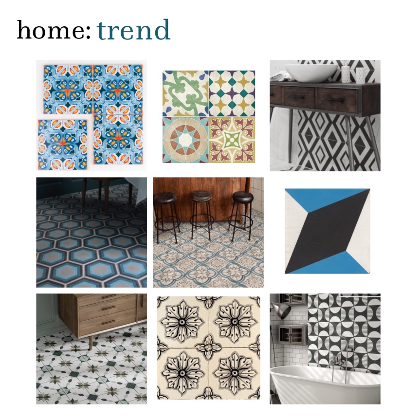 home: trend [ maximalist tiling ]