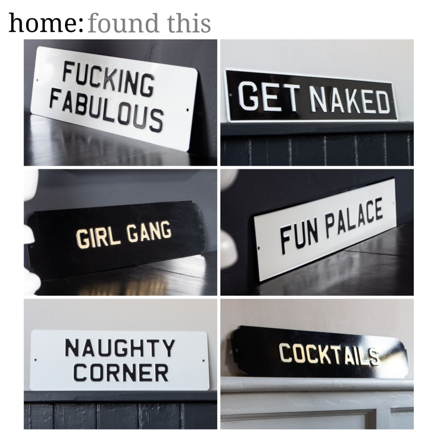 home: found this [ metal signs ]