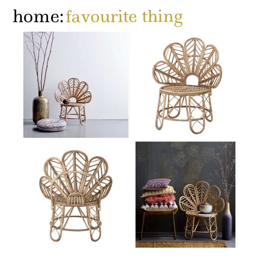 home: favourite thing [ cane chair ]