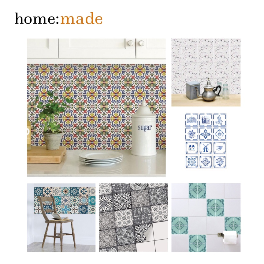 home: made [ tile stickers]