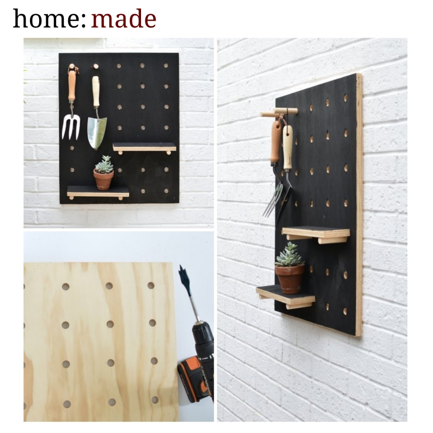 home: made [ peg board]