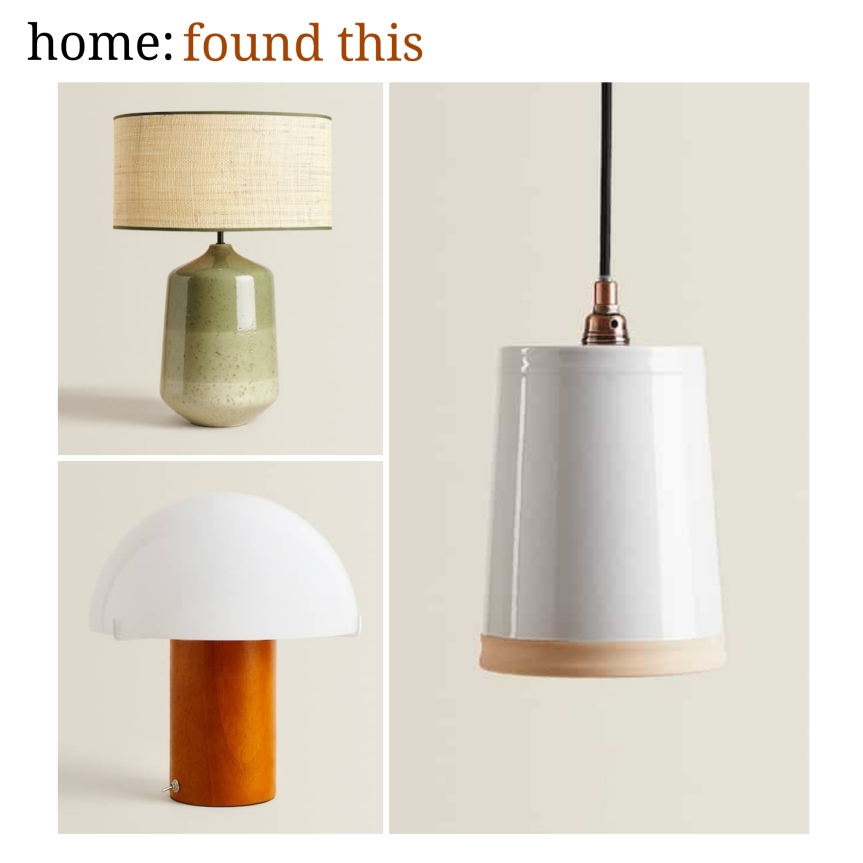 home: found this [ Zara lighting ]