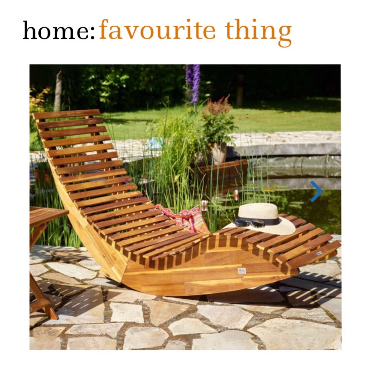 home: favourite thing [ sun lounger ]