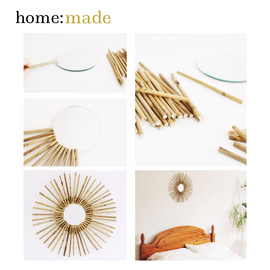 home: made [ bamboo mirror ]