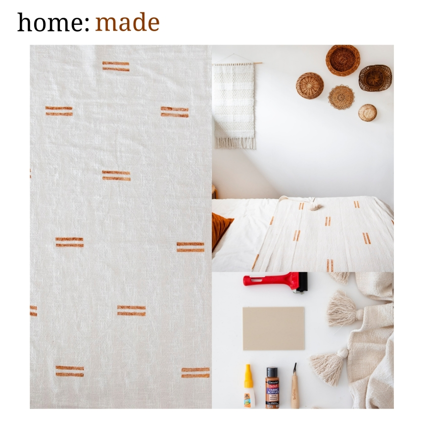 home: made [ mud cloth throw]