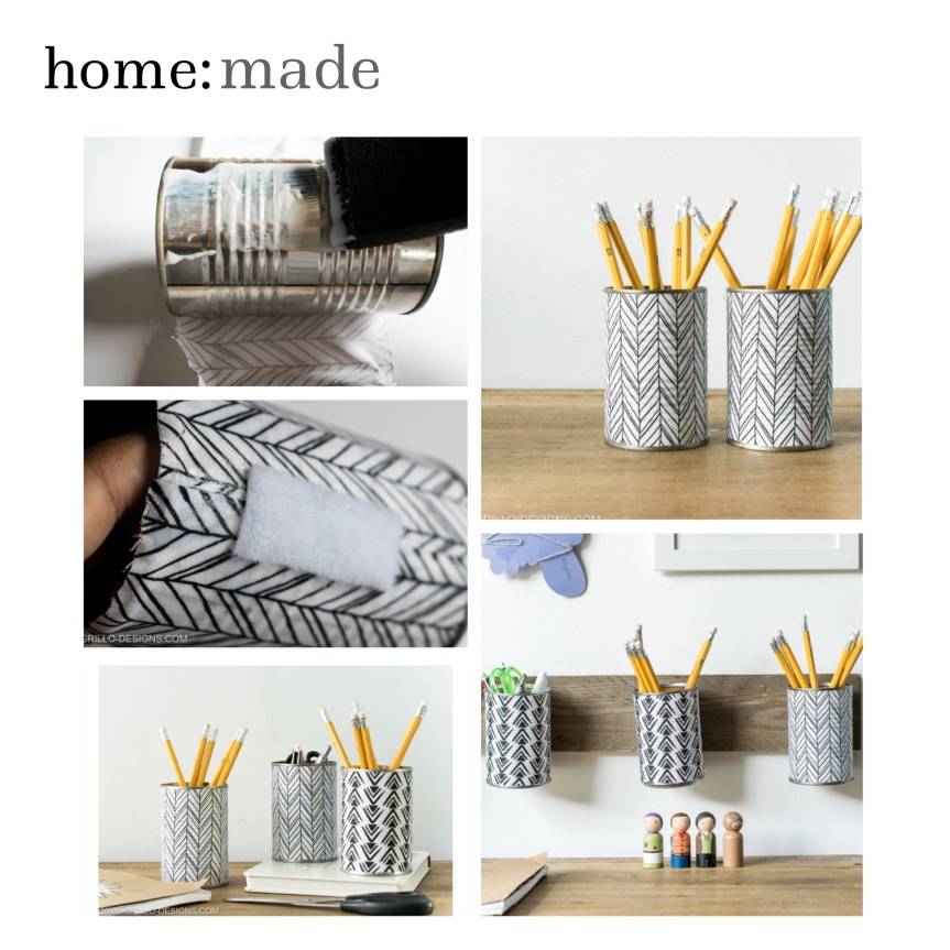 home: made [ pen holders]