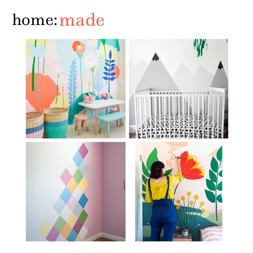 home: made [ diy painted wall design]