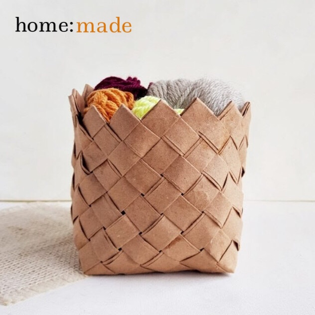 home: made [ woven paper basket ]