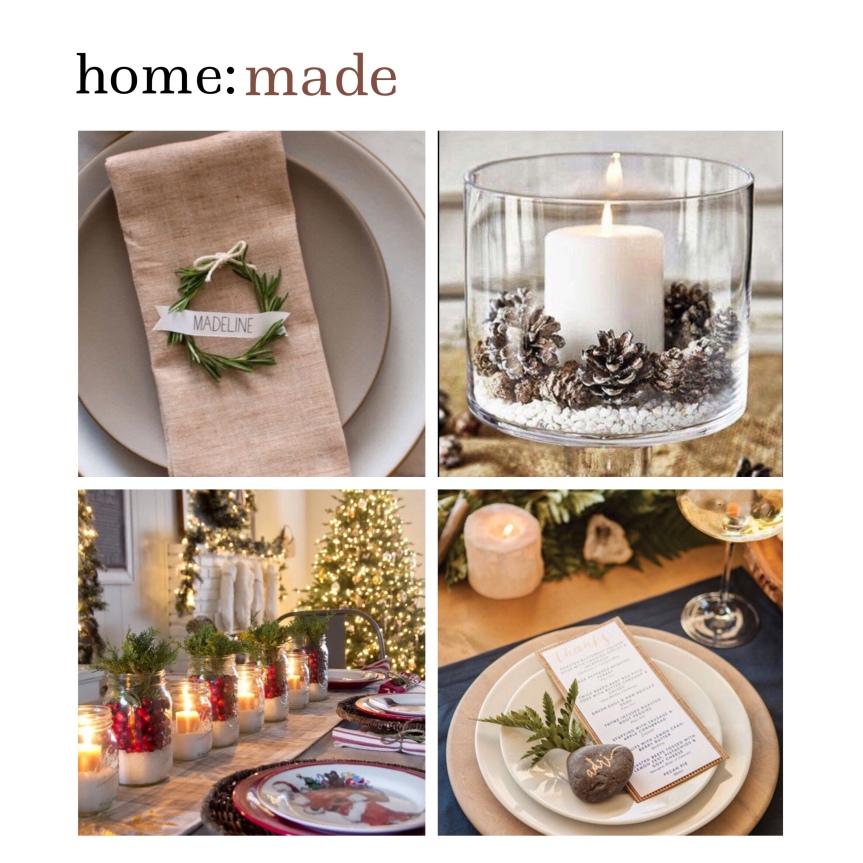 home: made [ Christmas centre pieces]