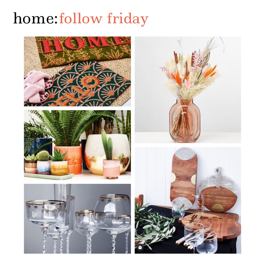 home: follow friday [ Oliver Bonas ]