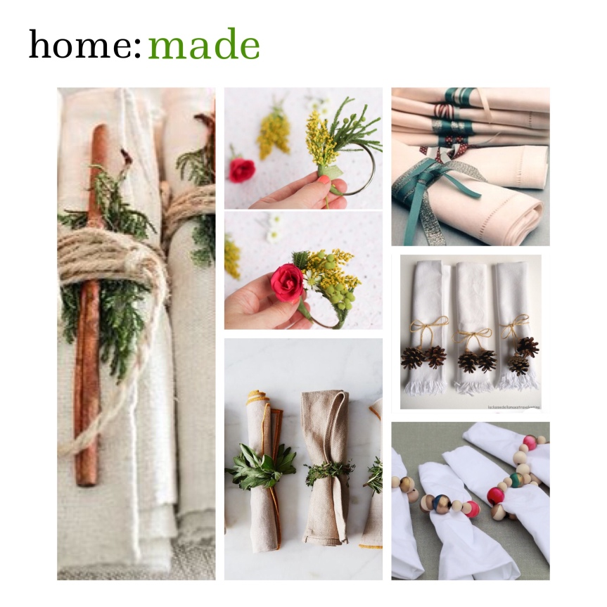 home: made [ napkin rings]