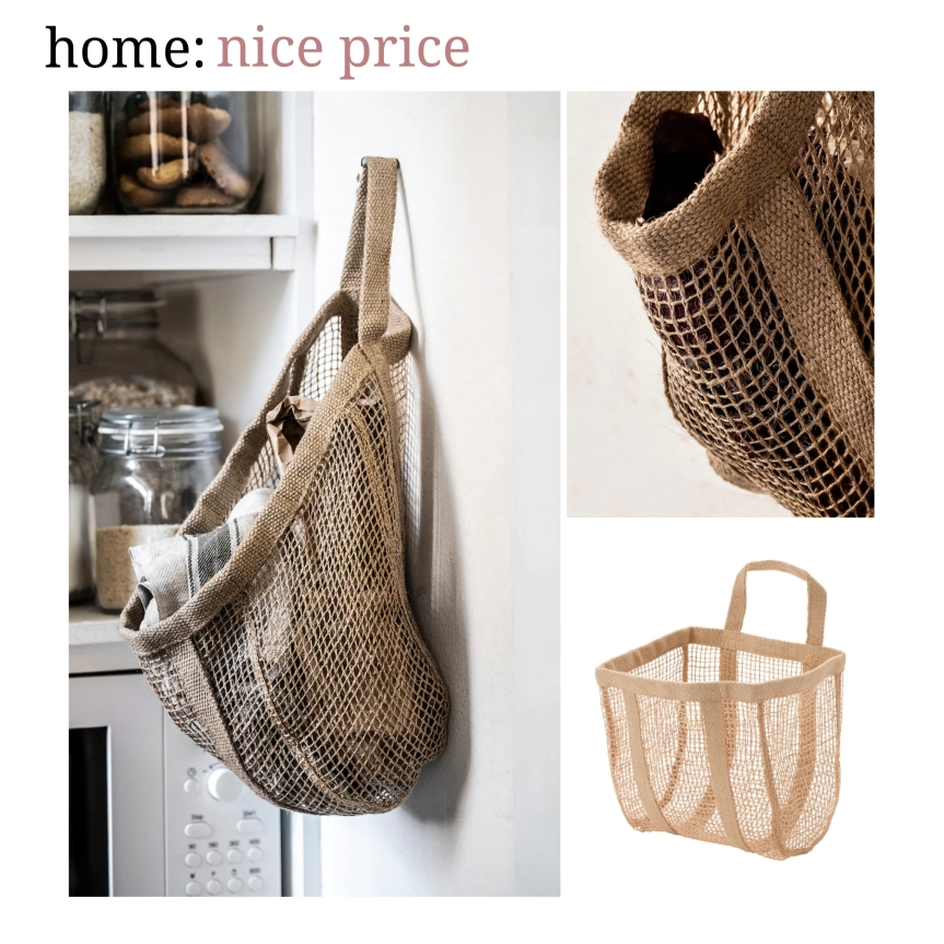 home: nice price [ jute basket ]