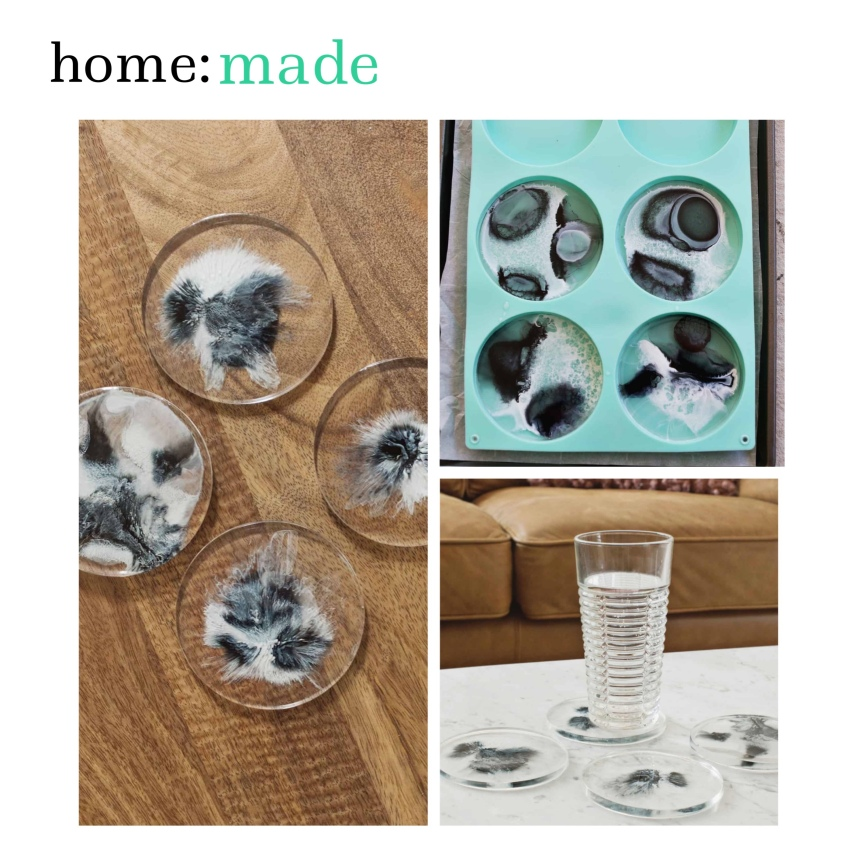 home: made [ diy resin coasters ]