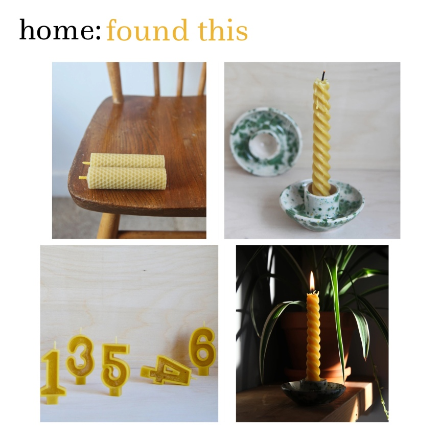 home: found this [ beeswax candles ]