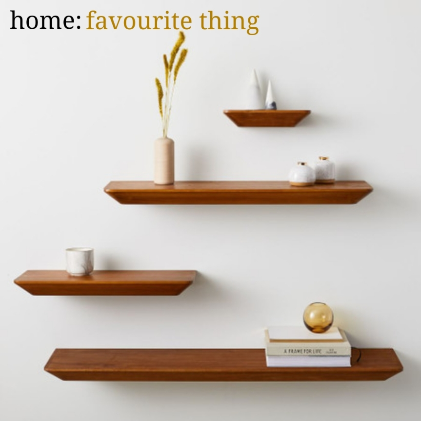 home: favourite thing [ floating shelves ]
