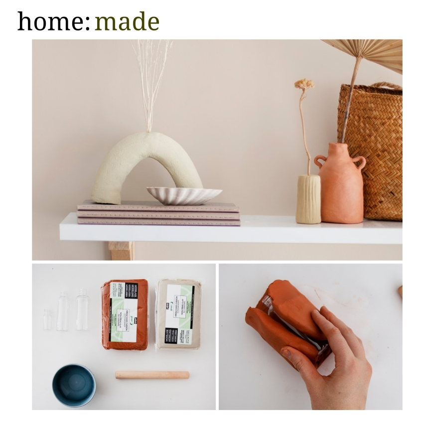 home: made [ clay vases]