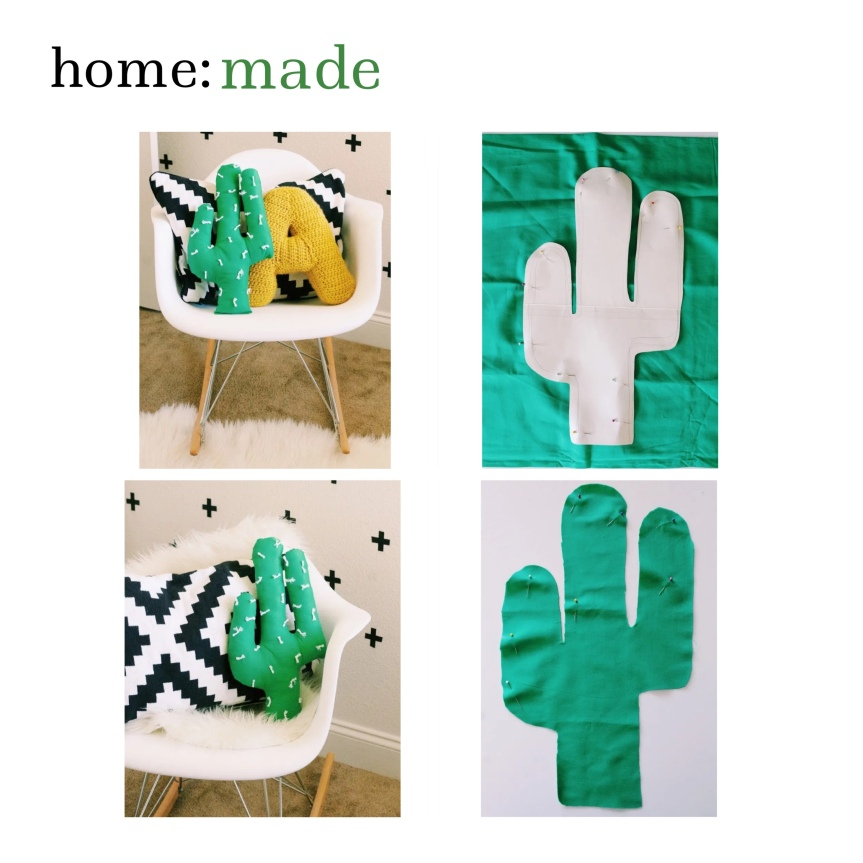 home: made [ cactus cushion ]
