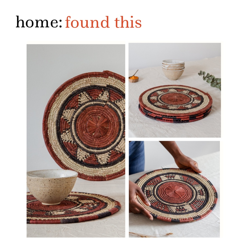 home: found this [ raffia placemats ]