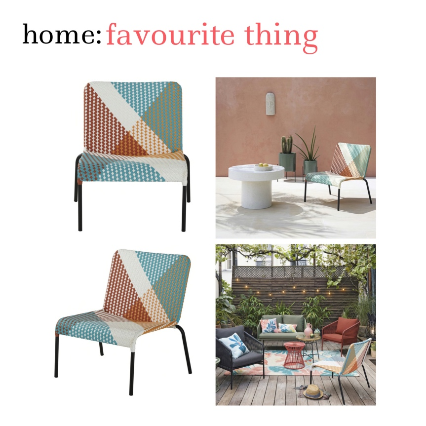 home: favourite thing [ garden lounge chair ]
