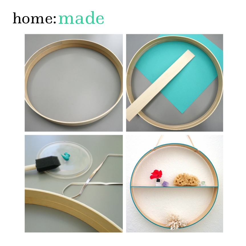 home: made [ circular shelf ]