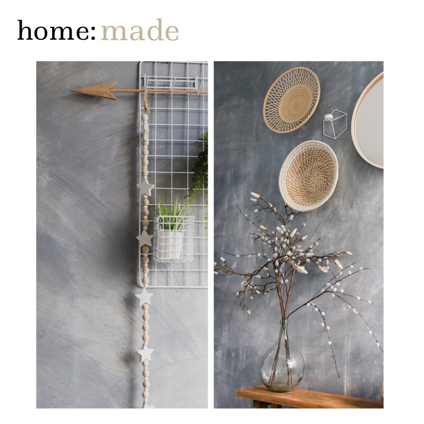 home: made [ faux concrete wall]