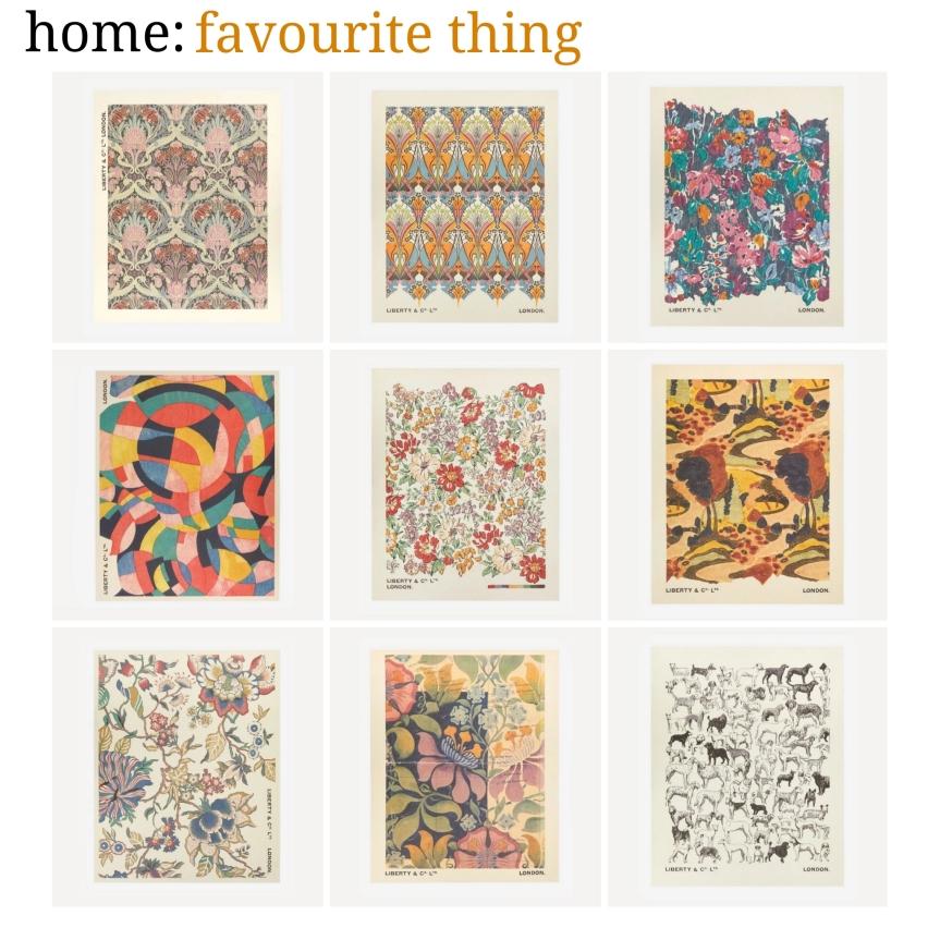 home: favourite thing [ Liberty art prints]