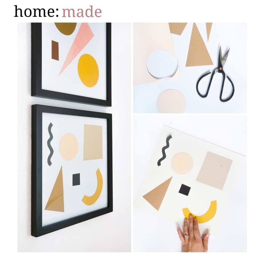 home: made [ paper shapes wall art]