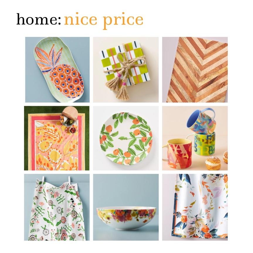 home: nice price [ colourful homeware]