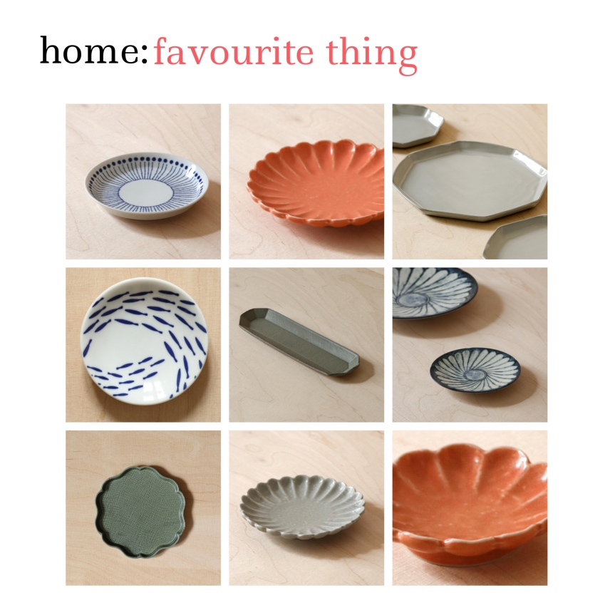 home: favourite thing [ plates]