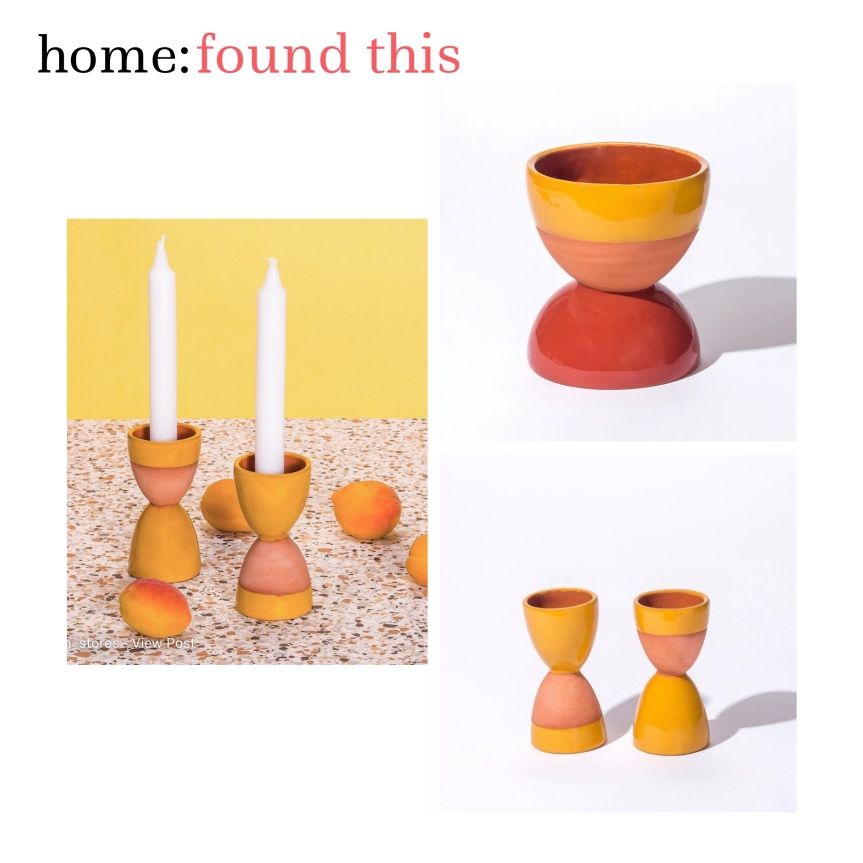 home: found this [ candle holder]
