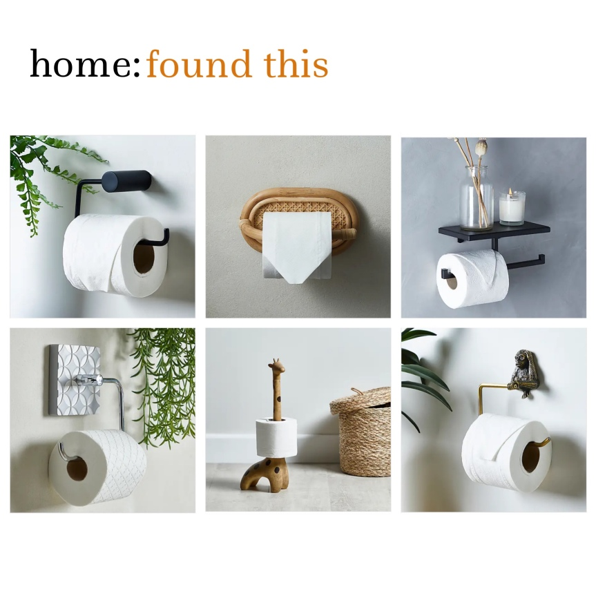 home: found this [ toilet roll holder]