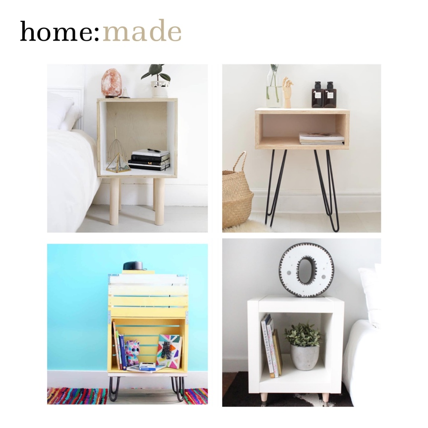 home: made [ diy bedside tables]