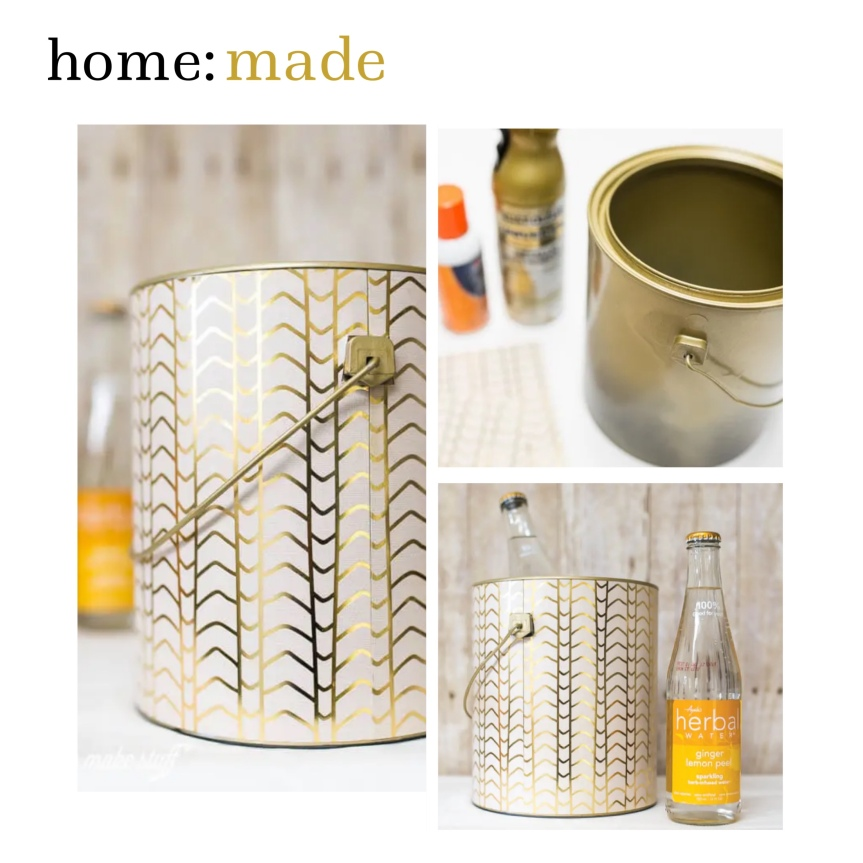 home: made [ upcycled paint tin]