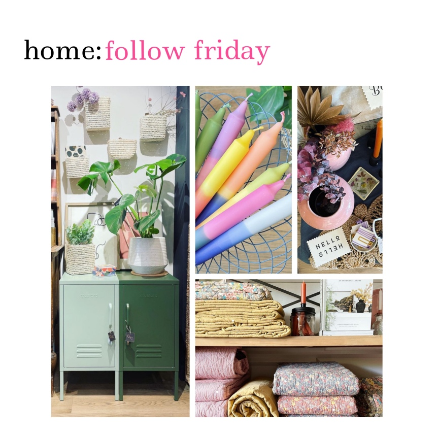 home: follow friday [ Quince and Cook]