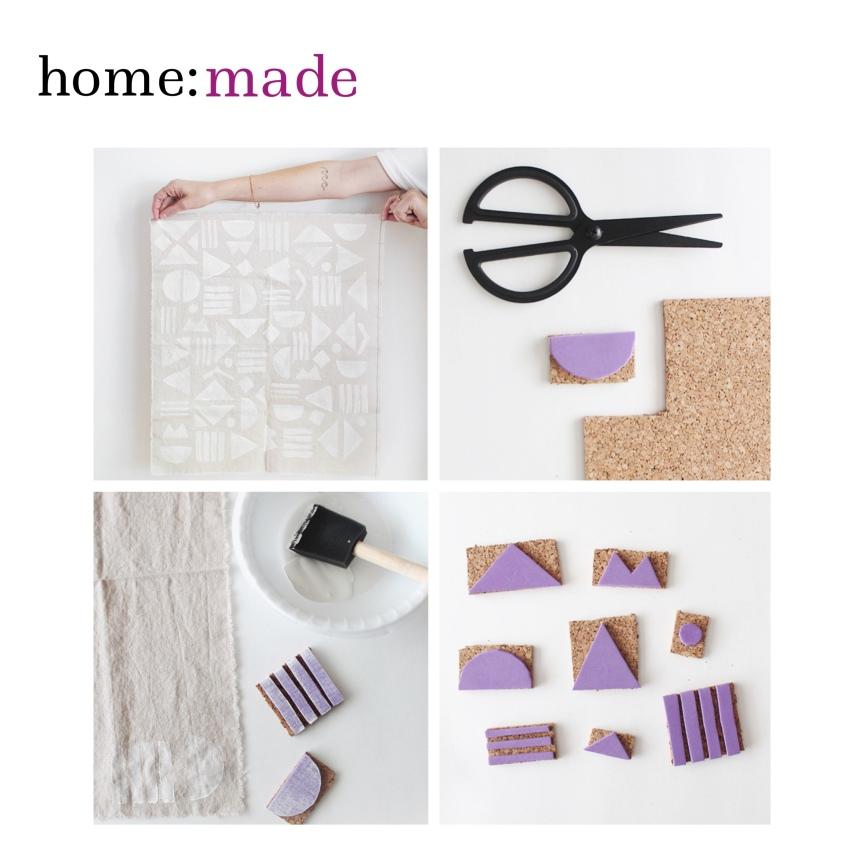 home: made [ printed napkins]